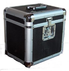 "Euro Style Aluminium 12"" LP Case with Black Panels 70 Capacity"